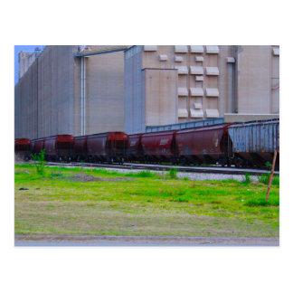 Eisenbahnwagen Postkarte