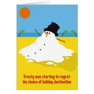 Eisig auf Feiertags-Weihnachtskarte Grußkarte