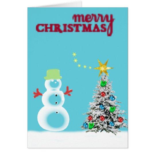 Eisig der Schneemann Grußkarte