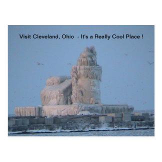 Eisiger Cleveland-Hafen Postkarte