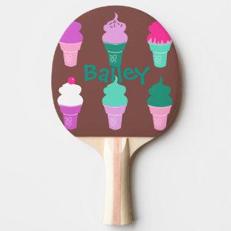 Eistüte-Klingeln pong Paddel Tischtennis Schläger