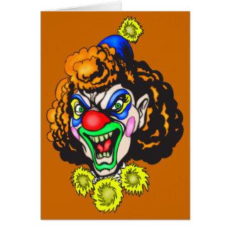 Ekelhafter schlechter Clown Karte