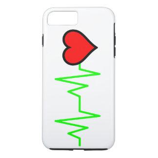 EKG Cardiogram-Herz iPhone 7 Plus Hülle