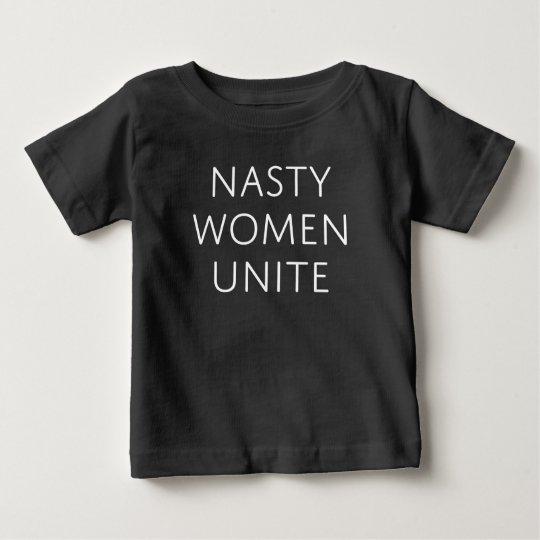 Eklige Frauen vereinigen Baby T-shirt