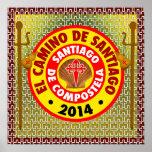 EL Camino De Santiago 2014 Affiche