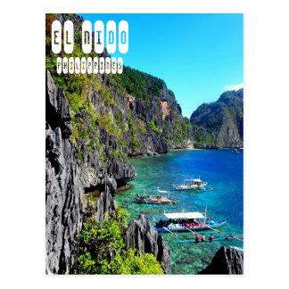 EL Nido in Philippinen-Postkarte Postkarte