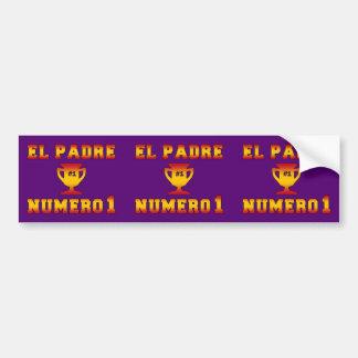 EL Padre Número 1 Vati #1 am spanischen Vatertag Autoaufkleber
