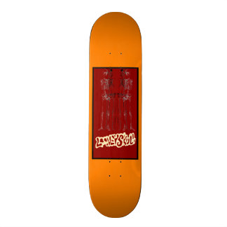El Trio De Equeletos 18,7 Cm Mini Skateboard Deck