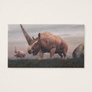 Elasmotherium Säugetierdinosaurier - 3D übertragen Visitenkarte