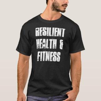 Elastisches Gesundheits-und Fitness-Schwarzes T-Shirt