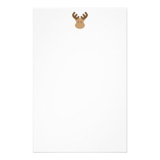 Elch-Briefpapier Briefpapier