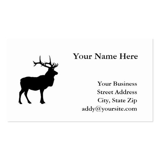 Elch silhouette visitenkarten vorlagen zazzle for Visitenkarten gratis vorlagen