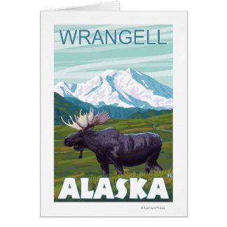 Elch-Szene - Wrangell, Alaska Karte