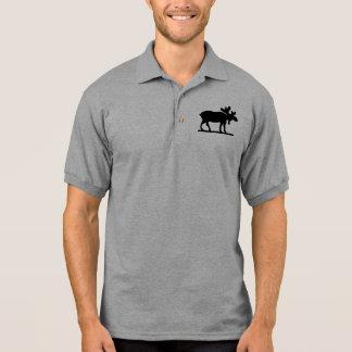 Elche auf dem losen polo shirt