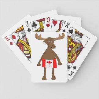 Elche, die kanadische Boxer tragen Kartendeck