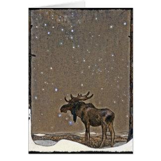 Elche im Schnee Karte