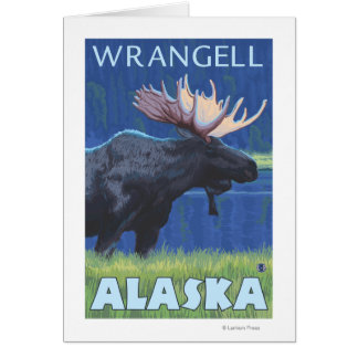 Elche nachts - Wrangell, Alaska Karte