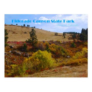Eldorado-Schlucht-Staats-Park Colorado Postkarte