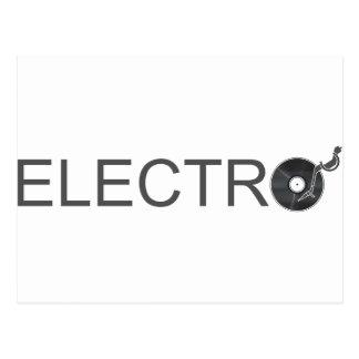 Electro - Musik-Turntable-Vinylaufzeichnung DJ Postkarten