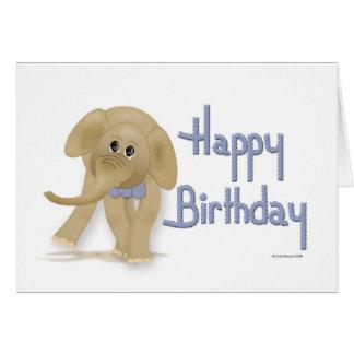 Elefant-alles- Gute zum Geburtstagkarte Grußkarte