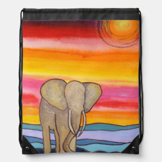 Elefant am Sonnenuntergang in Afrika (K. Turnbull Turnbeutel