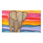 Elefant am Sonnenuntergang in Afrika (K. Turnbull Visitenkarten Vorlage