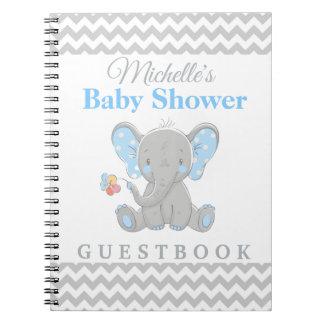 Elefant-Baby-Duschen-Zickzack kundenspezifisches Notizblock