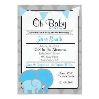 Elefant-Babyparty 12,7 X 17,8 Cm Einladungskarte