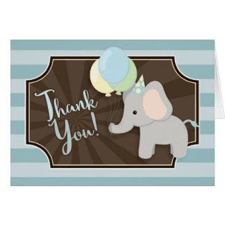 Elefant-Babyparty danken Ihnen zu kardieren Karte
