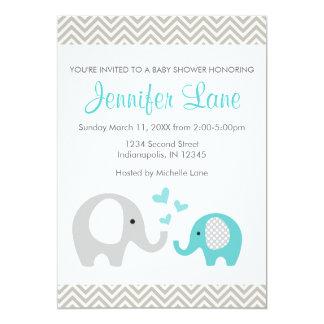Elefant-Babyparty laden Jungen ein Karte