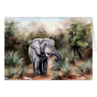 Elefant ComingThrough leere Karte
