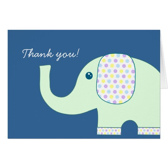 Elefant danken Ihnen Karten, YB Mitteilungskarte