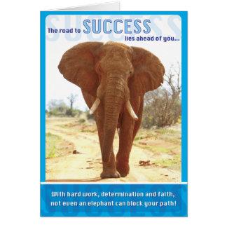 Elefant-Erfolg Grußkarte