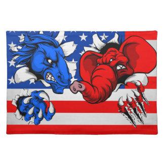 Elefant-Esel-Kampf Demokraten republikanischer Tischset
