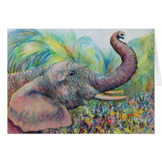 Elefant-Gruß-Karte Grußkarte