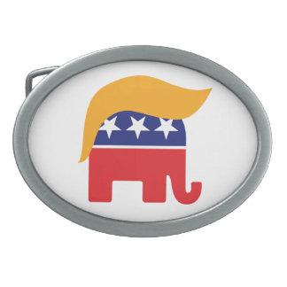 Elefant-Haar-Logo Donald Trump republikanisches Ovale Gürtelschnallen