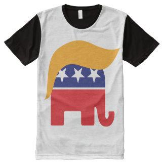 Elefant-Haar-Logo Donald Trump republikanisches T-Shirt Mit Komplett Bedruckbarer Vorderseite