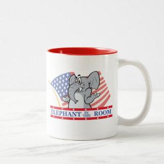 Elefant im Raum politisch Tasse