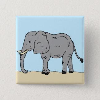 Elefant in der Savanne Quadratischer Button 5,1 Cm