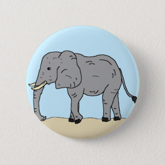 Elefant in der Savanne Runder Button 5,1 Cm