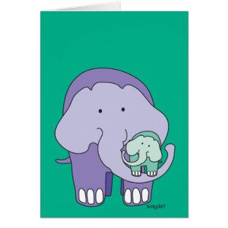 Elefant in Lila Grußkarte