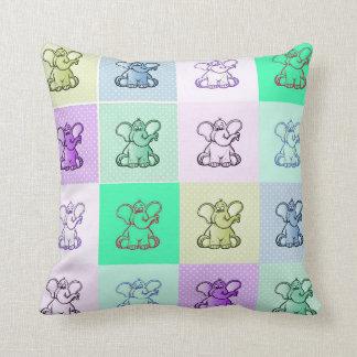 Elefant-Kinderzimmer Kissen