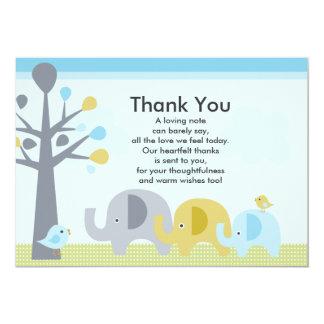 Elefant-Liebe-Baby-Dusche danken Ihnen zu 12,7 X 17,8 Cm Einladungskarte