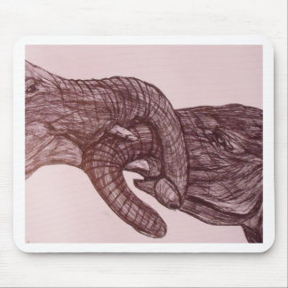 Elefant-Liebe Mauspads