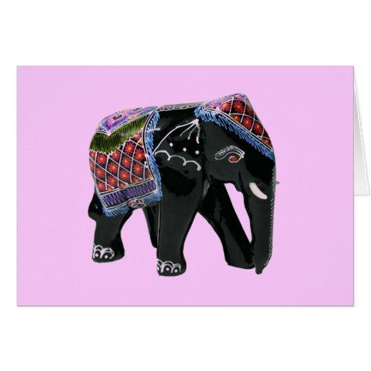 Elefant - löschen Sie nach innen Grußkarte