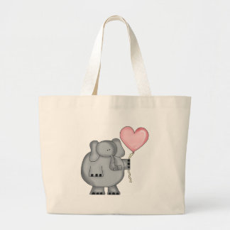 Elefant mit Herz-Ballon Jumbo Stoffbeutel
