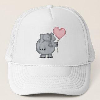Elefant mit Herz-Ballon Truckerkappe