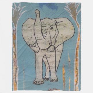 Elefant-Musik-Decke Fleecedecke