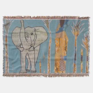 Elefant-Musik-Wurf Decke