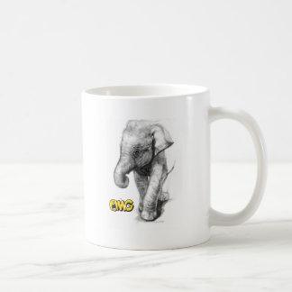 Elefant-Pose Kaffeetasse